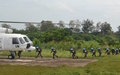 The Senegalese battalion of UNOCI carried out an airborne exercise in Yamoussoukro