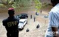 Fin de formation de gendarmes ivoiriens animée par la Police des Nations Unies : exercice pratique sur la protection des hautes personnalités et l'intervention personnelle (Abidjan, avril 2015)