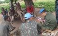 Escale d'Observateurs militaires de l'ONUCI à Tekouedouo, lors d'une patrouille dans la région de Bouna, pour s'enquérir de la situation sécuritaire sur le terrain (Tekouedouo, juillet 2016)
