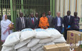 Some 242 detainees of the post-electoral crisis, incarcerated at MACA prison in Abidjan received food and non-food assistance from a delegation of the United Nations System led by the Special Representative (Abidjan, June 2016)