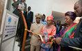La Représentante spéciale et le Ministre d'Etat, Ministre de l'Intérieur et de la Sécurité réhabilitent et équipent le Centre des archives de la Préfecture d'Abidjan