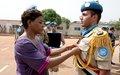 173 casques bleus égyptiens décorés de la médaille des Nations Unies