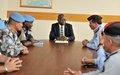 Le Représentant spécial adjoint reçoit une délégation de hauts responsables de la Police jordanienne