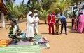 Les enfants orphelins de Tabou fêtent déjà Noël en présence de l'ONUCI