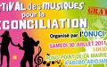 FESTIVALS DES MUSIQUES POUR LA PAIX ET LA RECONCILIATION