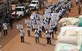 Man : défilé des comités villageois de lutte contre le SIDA de la région du Tonkpi en décembre 2007 (Photo ONUCI/Alban Mendes De Leon)