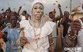 - Défilé de cultivateurs  lors de la fête des ignames au Royaume Sanwi du canton Assouba près d'Aboisso (décembre 2011)