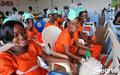 Sourire radieux de majorettes au Forum de l'ONUCI à Bonoua  (juin 2009)