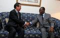 Le chef de l'ONUCI et le leader du RDR discutent du processus électoral.