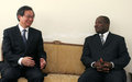 Le représentant spécial rend visite au ministre de l'intérieur