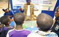 - Le Volontariat expliqué à de jeunes élèves lors des Journées de l'ONUCI à Bongouanou (février 2012)