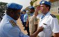 Vingt policiers de l'ONUCI honorés de la Médaille des Nations Unies