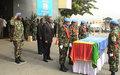 L'ONUCI rend hommage à un Militaire du contingent beninois décédé à Toulepleu